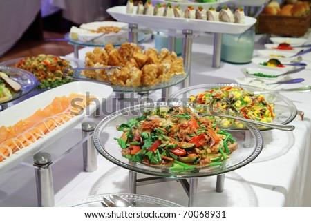buffet dinner - stock photo