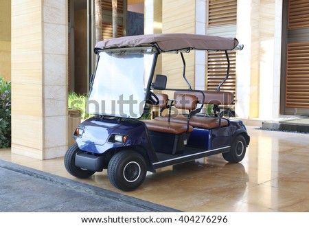 Buggy car In a hotel - stock photo