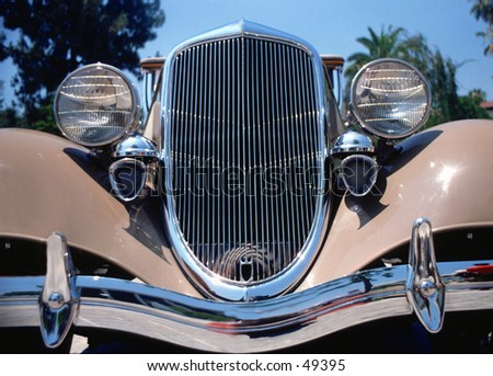 Buick front grill antique - stock photo