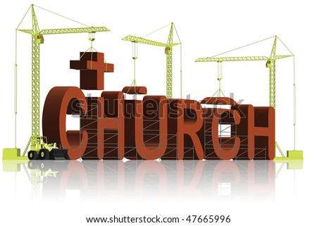 build a church house of god and jesus a place to pray and belief in the sacred bible under the cross religion and faith religious