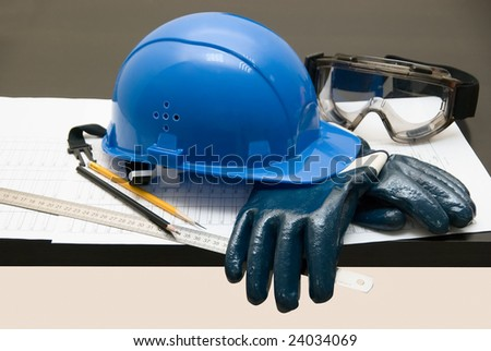 Build theme: different objects on a table - stock photo