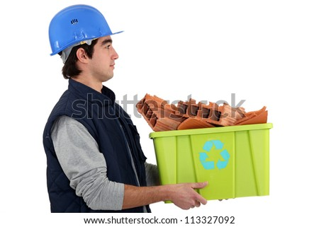 builder, recycle - stock photo
