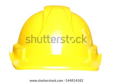 Builders hard hat safety helmet studio cutout - stock photo