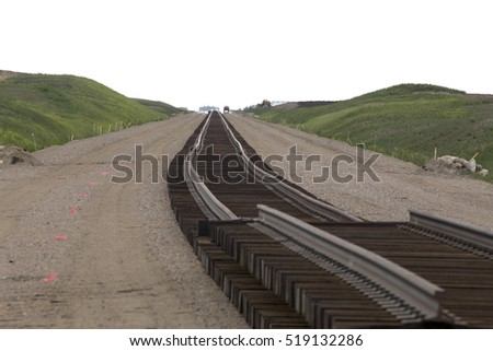 Buildind a railroad Track for a Saskatchewan Potash Mine