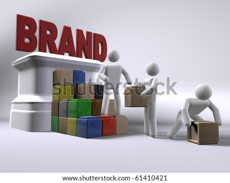 Building a brand - stock photo