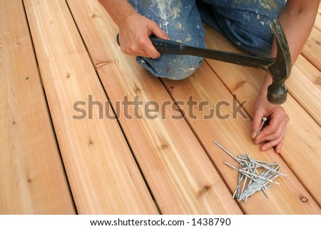 Building a new deck. - stock photo