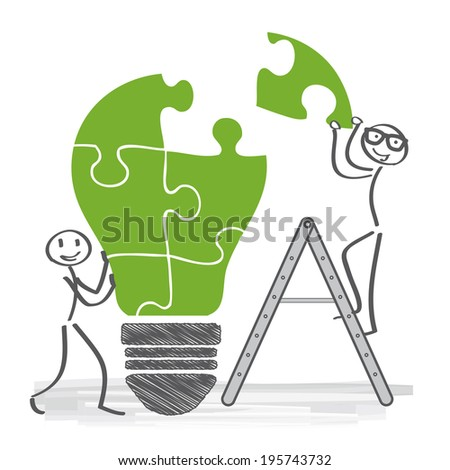 Building a Positive Team, cooperation - stock photo
