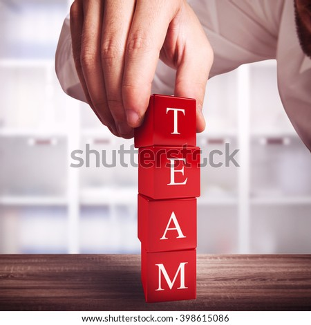 Building a team - stock photo
