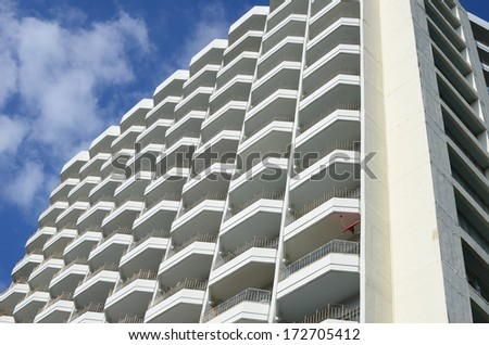building against sky - stock photo