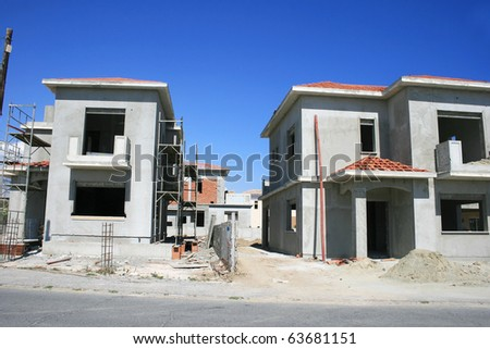 Building  and construction site. - stock photo