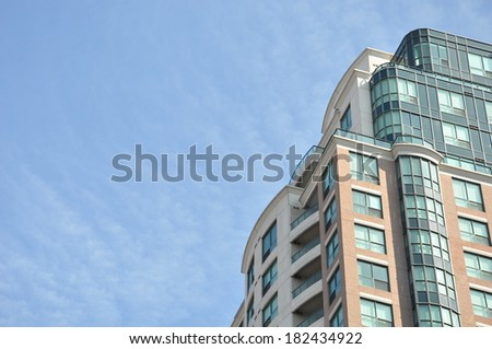 Building and skies - stock photo