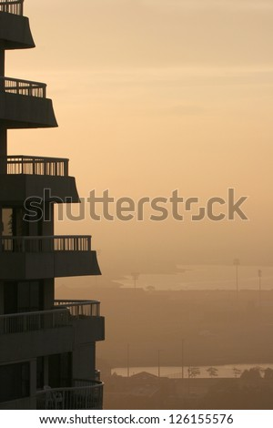 Building at dusk - stock photo