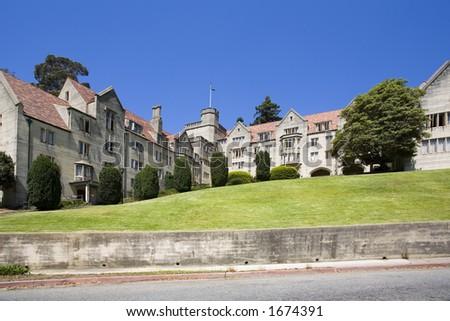 Building at UC Berkeley. - stock photo