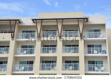 Building balconies - stock photo