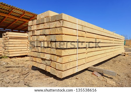 Building bar from a tree. - stock photo