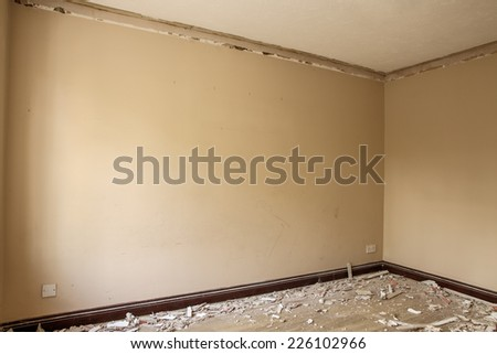 building being renovated in need of repair - stock photo