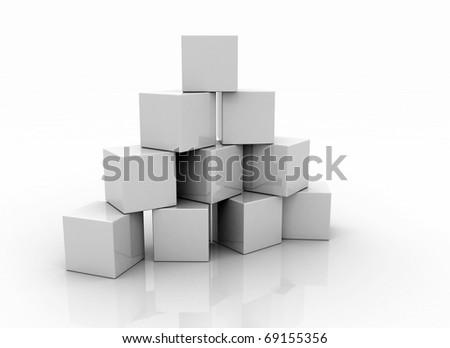 Building blocks blank - stock photo