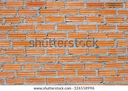 Building brick wall construction