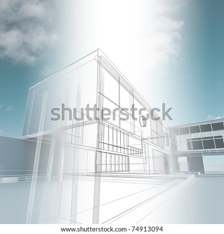 Building construction. Industry architecture building - stock photo