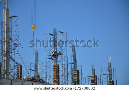 Building construction Site at Thailand