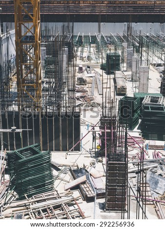 Building Construction site scaffold structure architecture industrial