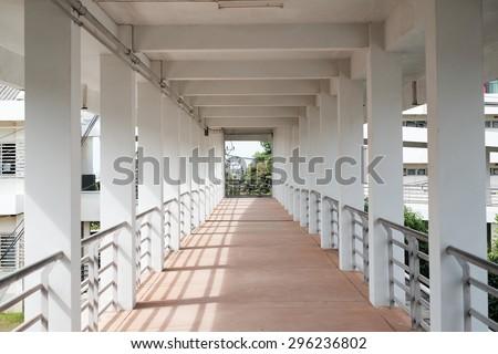 Building corridor - stock photo