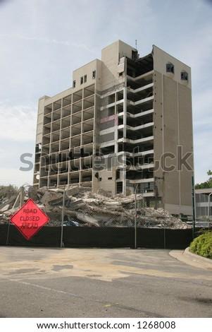 Building Demolition - stock photo