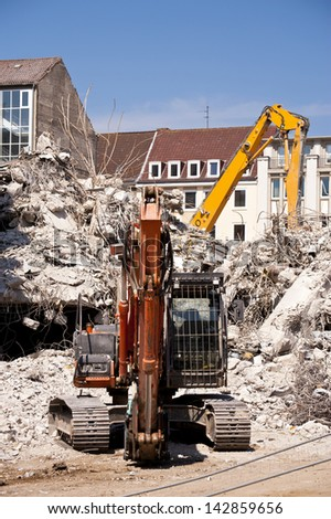 Building Demolition in Kiel, Germany - stock photo
