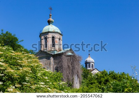 Building details on Holy Mount Athos - stock photo