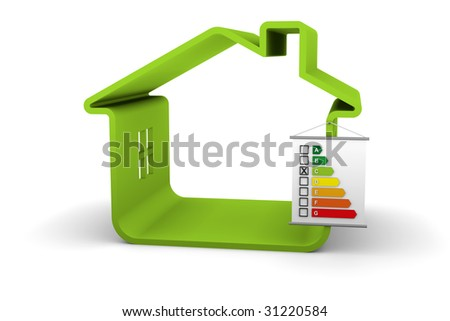 Building Energy Performance C Classification - stock photo