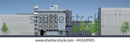 Building facade - stock photo