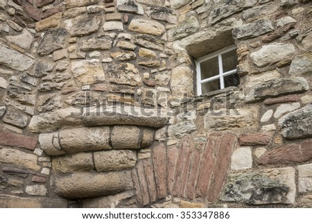 building from natural stones - stock photo