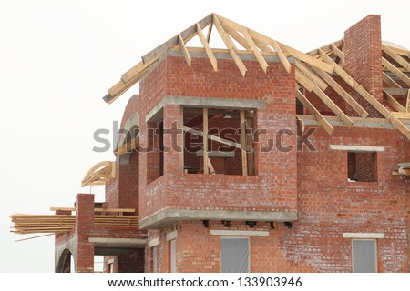 building house roof construction