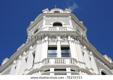 Building in Christchurch, New Zealand. Old architecture. - stock photo