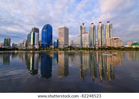 Building in Suan benja kitti in Bangkok of Thailand - stock photo