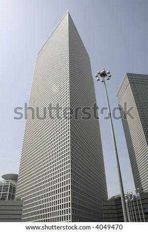 building in tel aviv israel - stock photo