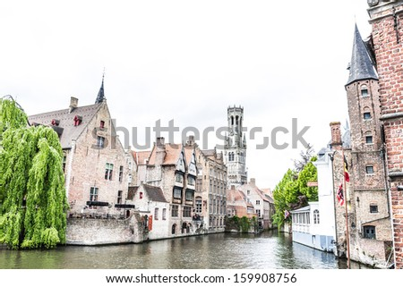 Building in the old town of Ghent, belgium  - stock photo
