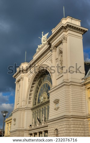 Building of East Railway station, Budapest, Hungary - stock photo
