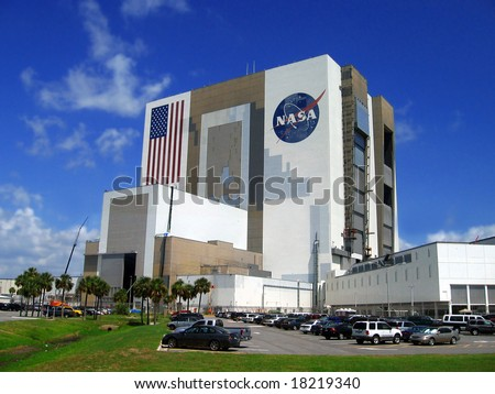 building of Nasa,Kennedy space centre, Florida, USA - stock photo