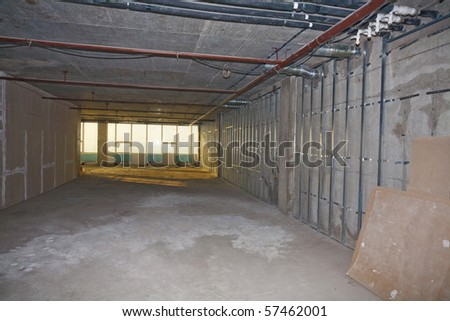 Building of office premises - stock photo