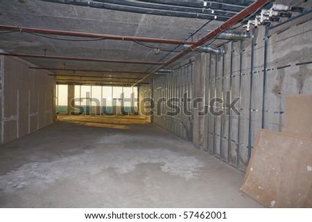 Building of office premises - stock photo