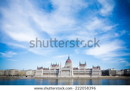 building of Parliament in Budapest, Hungary, Europe  - stock photo