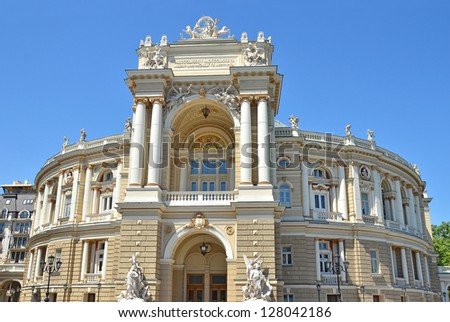 Building of public opera and ballet theater in Odessa, Ukraine - stock photo