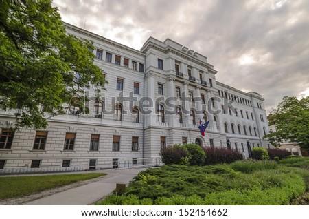 Building of Supreme Court of Slovenia, Ljubljana - stock photo
