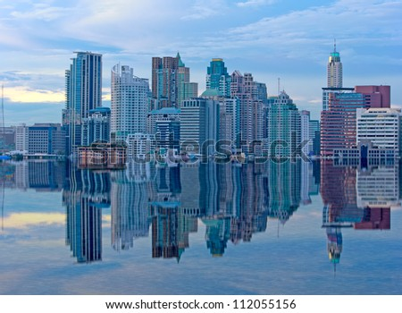 Building on Reflection - stock photo