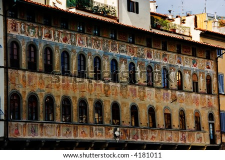 Building on the Santa Croce square. Florence. Italy.