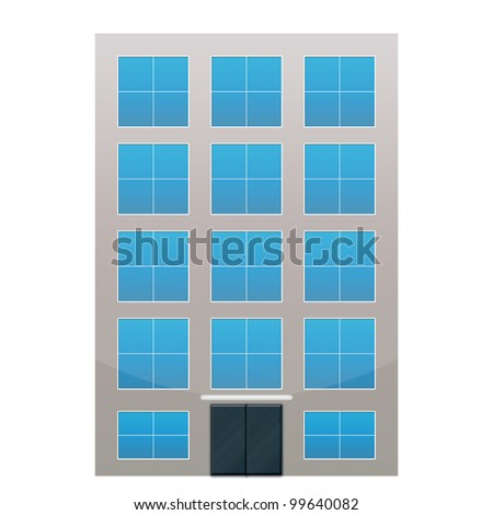 Building on White Canvas - stock photo