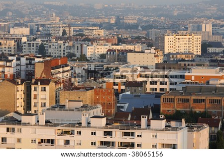 Building paris - stock photo