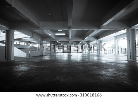 Building parking lot - stock photo