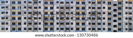 Building pattern from precast method as a wallpaper and background - stock photo
